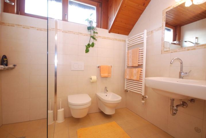 Bad mit großer Dusche Wohnung Arnika