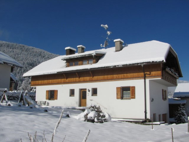 Hoferhof Villabassa in the winter